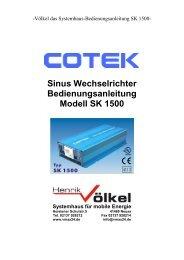 Cotek Sinus Wechselrichter SK 1500.pdf - Henrik Völkel • Das ...