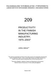 productivity in the finnish manufacturing industry, 1975–2003
