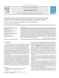 Electrochimica Acta Estimation of ion-site ... - elch.chem.msu.ru