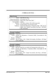 CURRICULUM VITAE Dados Pessoais Nome: Elier Broche Cristo ...