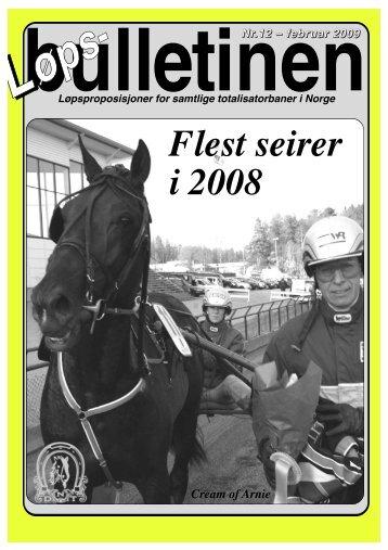 Løpsbulletinen for februar 2009 - Det Norske Travselskap
