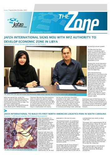 Economic Zones World Bi-Monthly Newsletter - Jebel Ali Free Zone