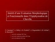 Intérêt d'une Evaluation Morphologique et Fonctionnelle dans l ...