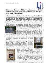 Schulsenatorin Christa Goetsch weihte die neue Solar-Tankstelle ...