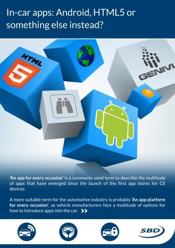 In-car apps: Android, HTML5 or something else instead? - SBD