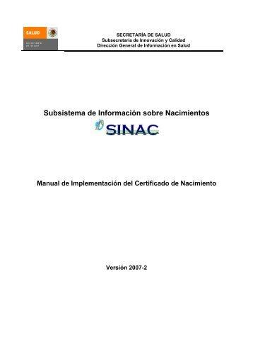 Manual de Implementación del Certificado de Nacimiento