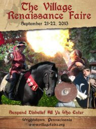 Official 2013 Faire Guide - The Village Renaissance Faire