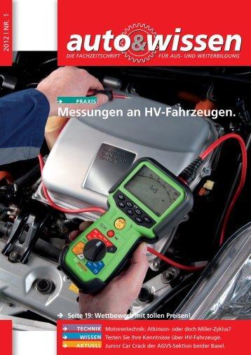 Messungen an HV-Fahrzeugen. - Auto & Wissen