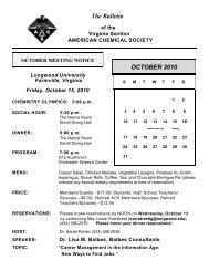 PDF version of October Bulletin - Virginia Section - American ...
