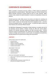 corporate governance - Department of Fire and Emergency Services