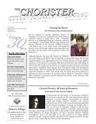 The Chorister Spring 2011 - Syracuse Childrens Chorus