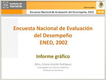 ENED 2002 - Instituto Nacional de Geriatría