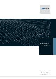 Profils ondulés et trapézoïdaux - Aluform System GmbH & Co. KG