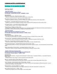 COMUNICAÇÕES COORDENADAS Domingo, 21 de ... - EPI 2008