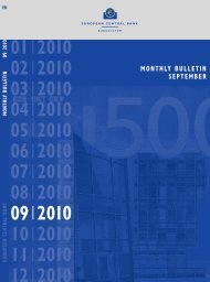 Monthly Bulletin September 2010 - European Central Bank - Europa