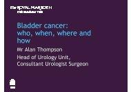 Alan Thompson - The Royal Marsden