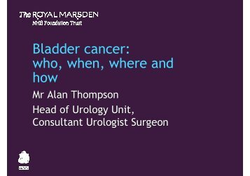 Alan Thompson - The Royal Marsden