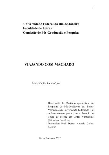 Viagens imaginárias - Faculdade de Letras - UFRJ