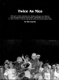 Twice As Nice - Swimming World Magazine