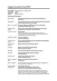 Gregory Lawrence Urwin, PSM - Pacific Islands Forum Secretariat
