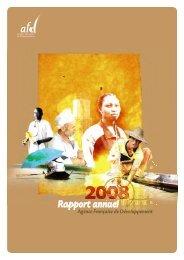 Rapport annuel 2008 - Agence Française de Développement