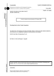 Unclassified TAD/TC/WP(2007)19/FINAL Working Party ... - Coparmex