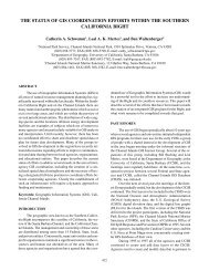The Status of GIS Coordination Efforts - National Marine Sanctuaries ...