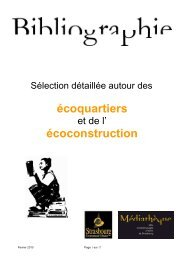 L'écoconstruction - Médiathèques de la ville et de la communauté ...