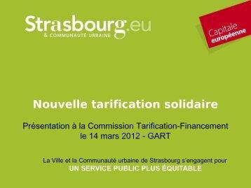 Nouvelle tarification solidaire - Gart