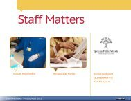 STAFF MATTERS | March/April 2013 - Spokane Public Schools