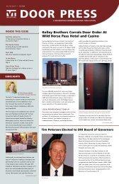 DoorPress Fall 2009 - VT Industries Inc
