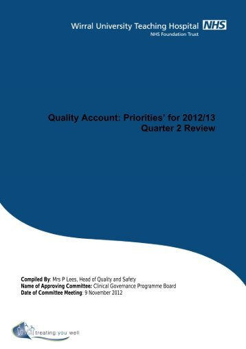 Quality Account: Priorities' for 2012/13 Quarter 2 Review - Wirral ...