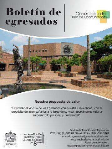 Boletín mes noviemb.. - Pontificia Universidad Javeriana, Cali