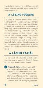 A lízing (2007. október) - Pénzügyi Szervezetek Állami Felügyelete - Page 4