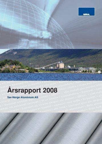 Årsrapport 2008 - Sør-Norge Aluminium AS