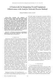 A Framework for Integrating Overall Equipment Effectiveness ... - ijimt