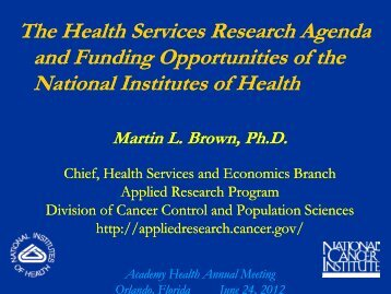 Martin Brown - AcademyHealth