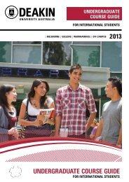 undergraduate course guide 2013  melbourne - Deakin University
