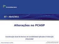 Alterações no PCASP