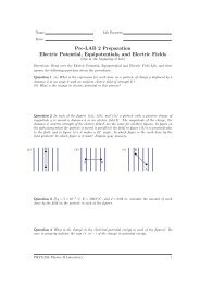 Pre-LAB 2 Preparation Electric Potential, Equipotentials, and Electric ...
