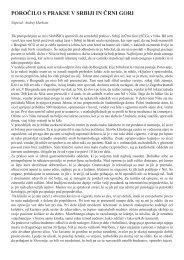 poročilo s prakse v srbiji in črni gori - Društvo študentov medicine ...