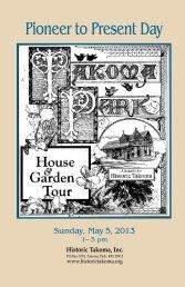 Tour Booklet (PDF) - Historic Takoma Inc.