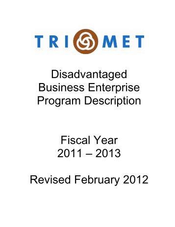 DBE Program Description - TriMet