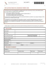 application form for a residence permit card - Maahanmuuttovirasto
