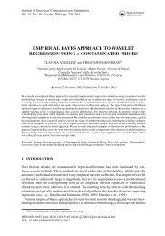 EMPIRICAL BAYES APPROACH TO WAVELET REGRESSION ...