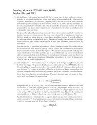 Løsning, eksamen FY2450 Astrofysikk Lørdag 21. mai 2011