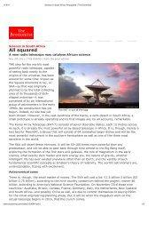 A new radio telescope may catalyse African science - SKA