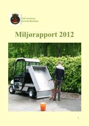 Miljørapport 2012 - Gravferdsetaten