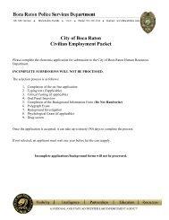 Civilian Background Information - City of Boca Raton