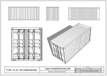 shipping-container-technical-drawings-20GP - Spatial Design ...